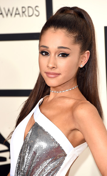 57th GRAMMY Awards - Arrivals [hair,fashion model,beauty,hairstyle,eyebrow,girl,long hair,model,brown hair,fashion,arrivals,ariana grande,grammy awards,staples center,los angeles,california,the 57th annual grammy awards]