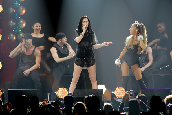 Y100's Jingle Ball Show [performance,entertainment,performing arts,stage,event,concert,music artist,public event,music,performance art,jessie j,ariana grande,miami,fl,bb t center,y100,l,jingle ball 2014 - show]