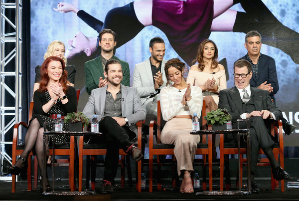 2016 Winter TCA Tour - Day 10 [winter tca,front,event,television program,performance,musical,stage,heater,competition,team,performing arts,sera gamble,michael london,john mcnamara,actors,actors,arjun gupta,hale appleman,olivia taylor dudley]