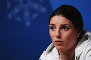 Hilary Knight of the United States Women's Ice Hockey team attends a press conference on day fourteen of the 2018 PyeongChang Winter Olympic Games on February 23, 2018 in Pyeongchang-gun, South Korea.