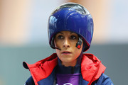Shelley Rudman of Great Britain prepares to make a run during a Women's Skeleton training session on Day 3 of the Sochi 2014 Winter Olympics at the Sanki Sliding Center on February 10, 2014 in Sochi, Russia.