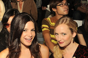 Journalist Julia Allison and Katrina Szish are seen around Lincoln Center during Mercedes-Benz Fashion Week on September 9, 2010 in New York City.