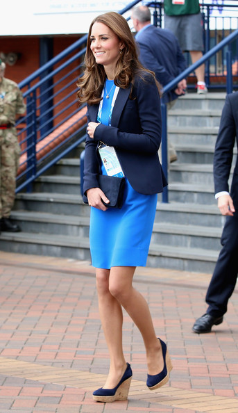 Catherine, Duchess of Cambridge leaves after watching the athletics at Hampden Park as she attends day six of the Commonwealth Games on July 29, 2014 in Glasgow, Scotland.