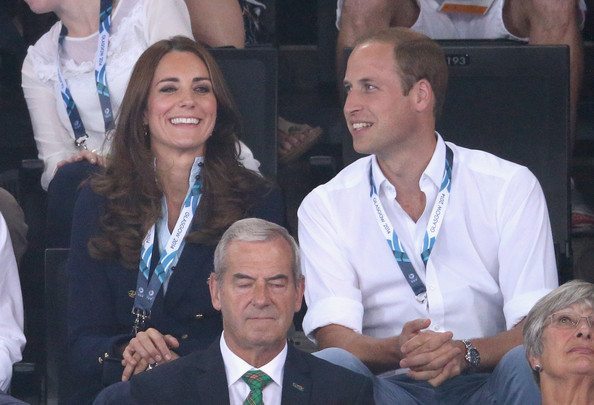 Catherine, Duchess of Cambridge and Prince William, Duke of Cambridge the Gymnastics at the SECC Hydro during the 20th Commonwealth games on July 28, 2014 in Glasgow, Scotland.