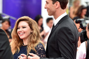 Actors Natasha Lyonne (L) and Pablo Schreiber attend the 66th Annual Primetime Emmy Awards held at the Nokia Theatre L.A. Live on August 25, 2014 in Los Angeles, California.