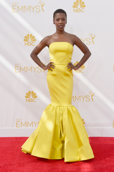 Actress Samira Wiley attends the 66th Annual Primetime Emmy Awards held at Nokia Theatre L.A. Live on August 25, 2014 in Los Angeles, California.