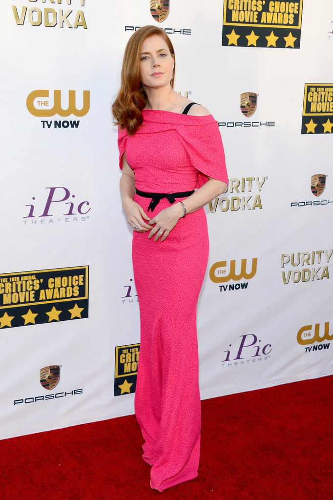 Actress Amy Adams attends the 19th Annual Critics' Choice Movie Awards at Barker Hangar on January 16, 2014 in Santa Monica, California.