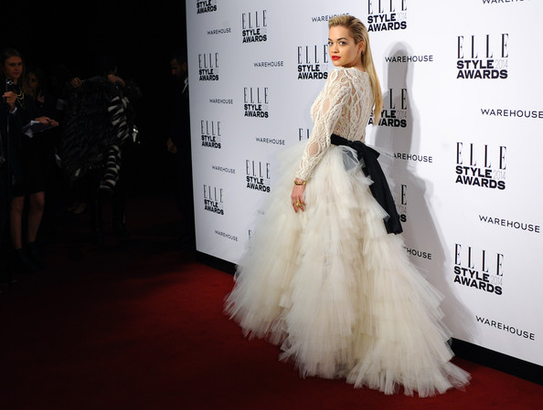 Rita Ora attends the Elle Style Awards 2014 at one Embankment on February 18, 2014 in London, England.