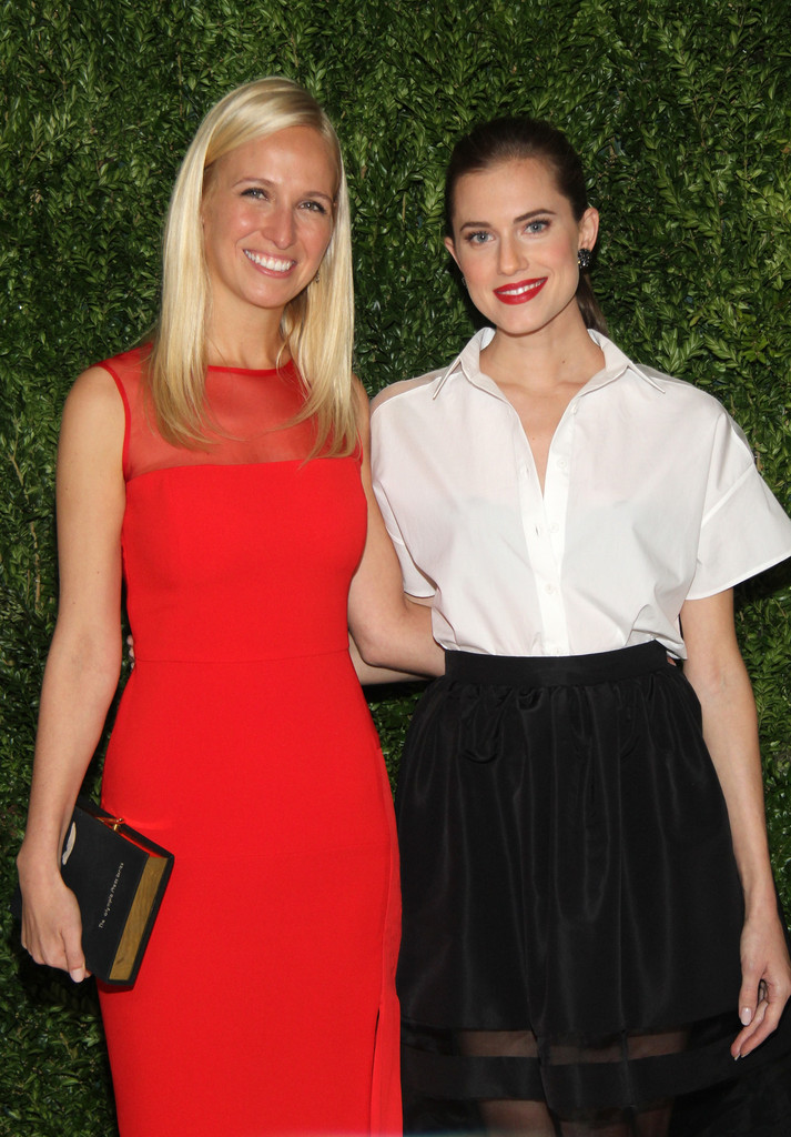 Misha Nonoo and Allison Williams attend CFDA and Vogue 2013 Fashion Fund Finalists Celebration at Spring Studios on November 11, 2013 in New York City.