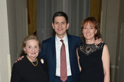 Former Secretary of State Madeleine Albright , IRC President and CEO David Miliband and Louise Miliband attend the Annual Freedom Award Benefit hosted by the International Rescue Committee at the Waldorf-Astoria hotel on November 6, 2013 in New York City.