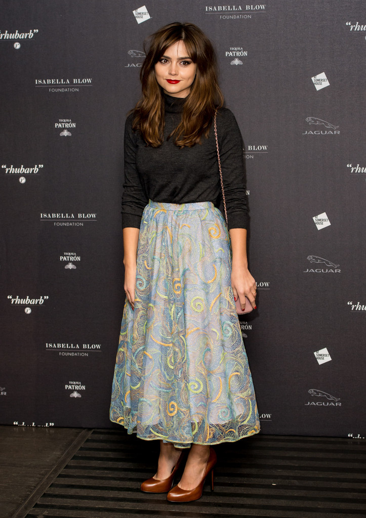 Jenna-Louise Coleman attends Isabella Blow: Fashion Galore! at Somerset House on November 19, 2013 in London, England.