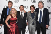 "Creators and cast of ""Boyhood"" John Sloss, Cathleen Sutherland, Richard Linklater, Ellar Coltrane and Jonathan Sehring attend the 2014 New York Film Critics Circle Awards at TAO Downtown on January 5, 2015 in New York City."