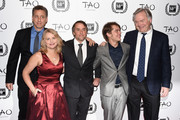 "(L-R)  Creators and cast of ""Boyhood"" John Sloss, Cathleen Sutherland, director Richard Linklater, Ellar Coltrane and Jonathan Sehring attend the 2014 New York Film Critics Circle Awards at TAO Downtown on January 5, 2015 in New York City."
