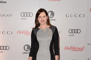 Geena Davis in Shades of Gray - Best Dressed at the Women in Entertainment Breakfast