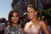 Dancers Cheryl Burke (L) and Kym Johnson attend The 2014 ESPYS at Nokia Theatre L.A. Live on July 16, 2014 in Los Angeles, California.