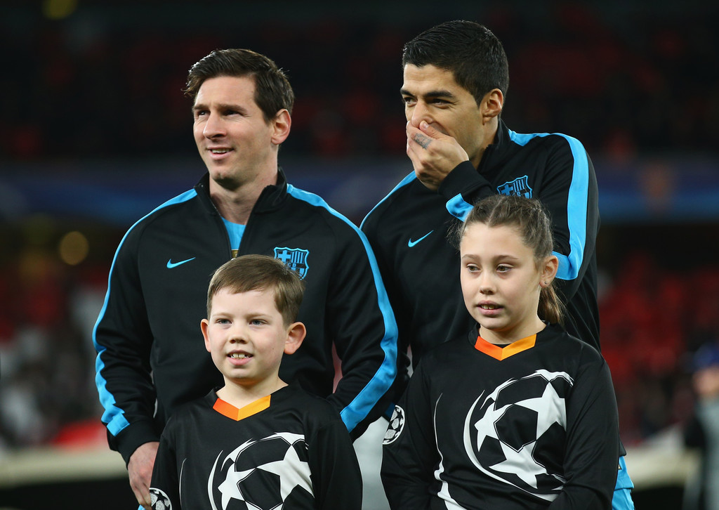 innovative design de859 c5c24 Lionel Messi Luis Suarez Photos - Arsenal FC v FC Barcelona ...