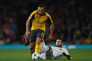 Santi Cazorla of Arsenal in action during the UEFA Champions League Group A match between Arsenal FC and FC Basel 1893 at Emirates Stadium on September 28, 2016 in London, England.