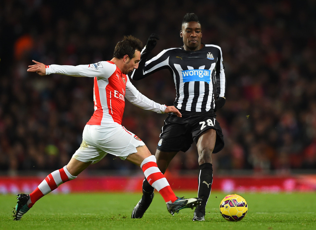Arsenal Vs Newcastle: Santi Cazorla In Arsenal V Newcastle United