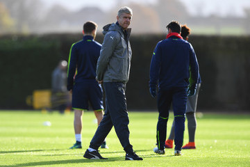 Arsene Wenger Arsenal Training and Press Conference