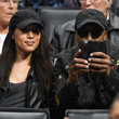 Arsenio Hall Celebrities At The Los Angeles Clippers Game