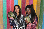Rosario Dawson and Abrima Erwiah attend the #TogetherBand Party- Art Basel Miami 2019 at Miami Beach Botanical Garden on December 5, 2019 in Miami Beach, Florida.