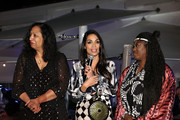 Shinique Smith, Rosario Dawson and Abrima Erwiah attend the #TogetherBand Party during Art Basel Miami 2019 at Miami Beach Botanical Garden on December 5, 2019 in Miami Beach, Florida.