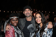 Abrima Erwiah, Jeremy Kost and Rosario Dawson attend the #TogetherBand Party- Art Basel Miami 2019 at Miami Beach Botanical Garden on December 5, 2019 in Miami Beach, Florida.