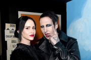 (L-R) Lindsay Usich and Marilyn Manson pose during The Art Of Elysium's 13th Annual Celebration - Heaven at Hollywood Palladium on January 04, 2020 in Los Angeles, California.