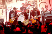 (L-R) Rick Nielsen, Daxx Nielsen, Robin Zander, and Tom Petersson of music group Cheap Trick perform onstage at The Art Of Elysium Presents WE ARE HEAR'S HEAVEN 2020 at Hollywood Palladium on January 04, 2020 in Los Angeles, California.