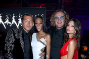 (L-R) Evangelo Bousis, Winnie Harlowe, Peter Dundas, and Emily Ratajkowski attend Michael Muller's HEAVEN, presented by The Art of Elysium, on January 5, 2019 in Los Angeles, California.