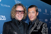 Peter Dundas (L) and Evangelo Bousis attend Michael Muller's HEAVEN, presented by The Art of Elysium, on January 5, 2019 in Los Angeles, California.