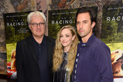 """Simon Curtis, Amanda Seyfried and Milo Ventimiglia attends """"The Art Of Racing In The Rain"""" New York Premiere at the Whitby Hotel on August 05, 2019 in New York City."""