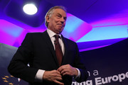 Former British Prime Minister Tony Blair takes part in a Q&A during the 'UK In A Changing Europe Conference' at the QEII Centre on March 29, 2018 in London, England. After holding a referendum, in June 2016, the United Kingdom voted to leave the European Union, and the signing of Article 50 British Prime Minister Theresa May officially triggered that process a year ago.