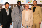 "(L-R) Jonathan Vieira, 50 Cent, Claudio Masenza and Giuseppe Cioccarelli attends the premiere of ""Things Fall Apart"" at the Aruba Film Festival on June 14, 2011 in Aruba, Aruba."