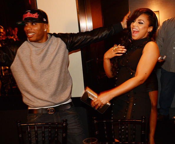 Nelly during Ashantis 25th Birthday Surprise Party