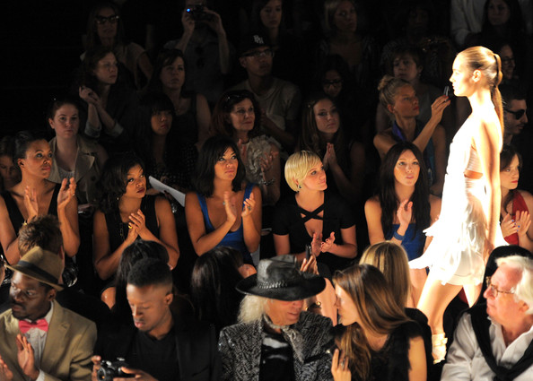 Celebs at the Max Azria Show for Fashion Week NYC