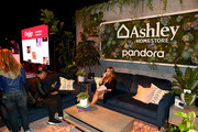 Guests attend Ashley HomeStore Presents Urbanology Powered By Pandora Featuring Ne-Yo at Goya Studios on October 05, 2019 in Los Angeles, California.