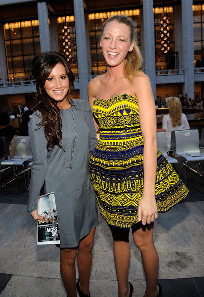 Ashley Tisdale Ashley Tisdale and Blake Lively attends Fashion's Night Out: The Show at Lincoln Center on September 7, 2010 in New York City.