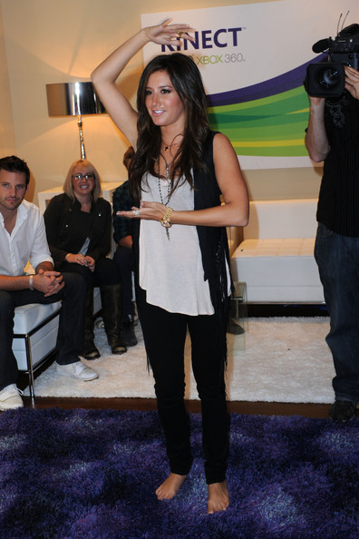 Ashley Tisdale Actress Ashley Tisdale attends Kinect for Xbox 360 Launch Party held at a private residence on October 23, 2010 in Beverly Hills, California.