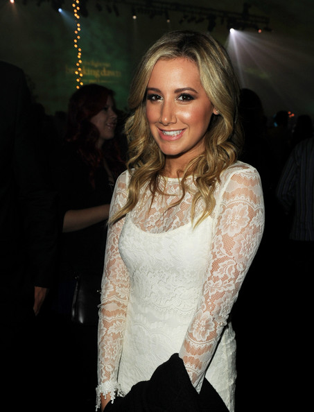 "Ashley Tisdale Actress Ashley Tisdale poses at the after party for the premiere of Summit Entertainment's ""The Twilight Saga: Breaking Dawn - Part 1"" at the L.A. Live on November 14, 2011 in Los Angeles, California."