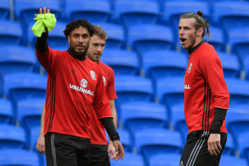 Ashley Williams Wales Training Session