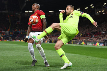 Ashley Young Manchester United Vs. FC Barcelona - UEFA Champions League Quarter Final: First Leg