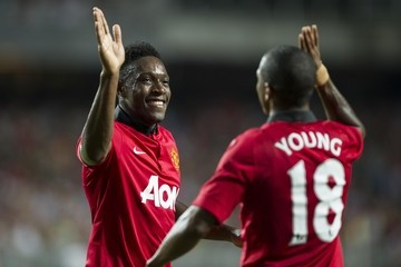 Ashley Young Danny Welbeck Kitchee FC v Manchester United