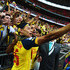 Theo Walcott Alex Oxlade-Chamberlain Photos - Alex Oxlade-Chamberlain and Theo Walcott of Arsenal pose for photographs with fans as they celebrate victory after the FA Cup Final between Aston Villa and Arsenal at Wembley Stadium on May 30, 2015 in London, England. Arsenal beat Aston Villa 4-0. - Aston Villa v Arsenal - FA Cup Final