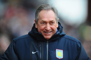 Gerard Houllier of Aston Villa looks on before the FA Cup sponsored by E.On Fourth Round match between Aston Villa and Blackburn Rovers at Villa Park on January 29, 2011 in Birmingham, England.