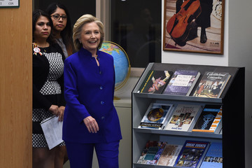 Astrid Silva Hillary Clinton Holds Campaign Roundtable in Las Vegas