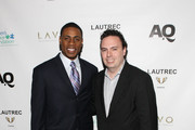 Curtis Granderson of the New York Yankees (L) and Editor-in-Chief of Athletes Quarterly Magazine Mike Dolan attend Athletes Quarterly & PR/PR Event Featuring Lautrec Fine Jewelry at Lavo on November 8, 2010 in New York City.