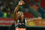 Ayanna Alexander of Trinidad and Tobago competes in the Women's Triple Jump final during the Athletics on day six of the Gold Coast 2018 Commonwealth Games at Carrara Stadium on April 10, 2018 on the Gold Coast, Australia.