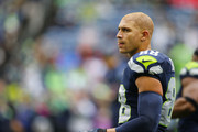 Tight end Jimmy Graham #88 of the Seattle Seahawks warms up before facing the Atlanta Falcons at CenturyLink Field on October 16, 2016 in Seattle, Washington.