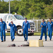 Piers Sellers Atlantis Astronauts Arrive For Terminal Countdown Demonstration Test